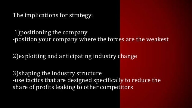 five forces that shape strategy On five basic forces, which are diagrammed in the exhibit on page 6 the collective strength of these forces determines the ultimate profit potential of shape strategy mr porter is a specialist in industrial economics and business strategy.