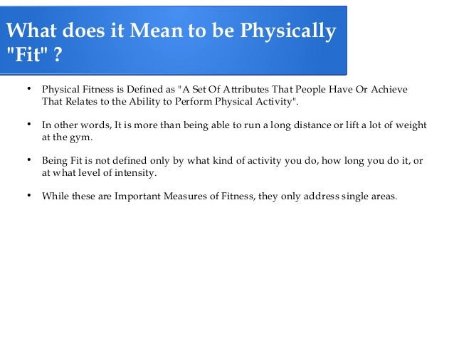 The Five Components Of Health Related Fitness 2
