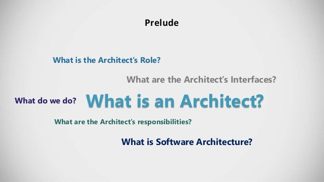 The five expertise of a software architect