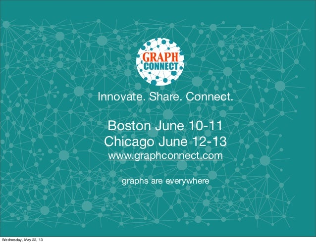 Innovate. Share. Connect.Boston June 10-11Chicago June 12-13www.graphconnect.comgraphs are everywhereWednesday, May 22, 13