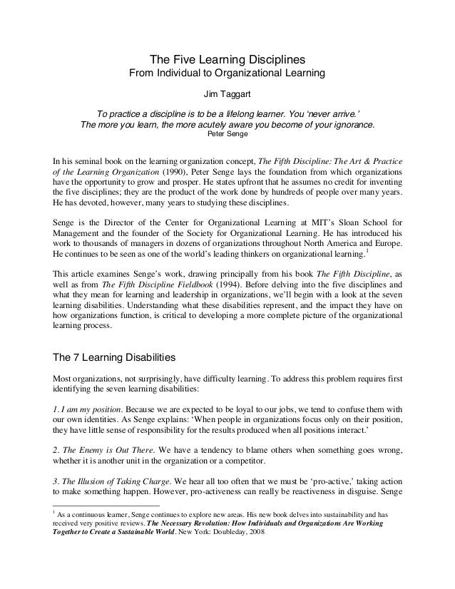 7 learning disabilities in organizations