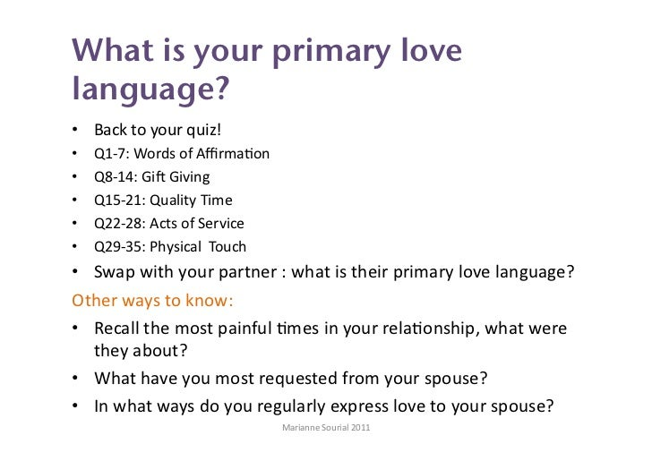 The five love languages for singles quiz