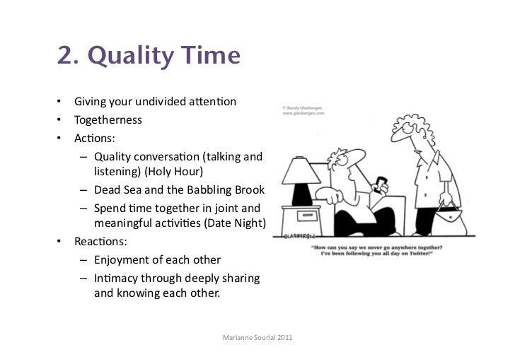 Quality time love language