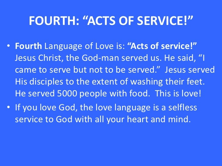 the five love languages acts of service