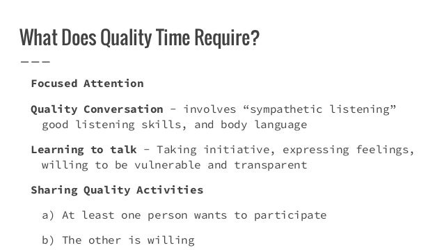 love language quality time description