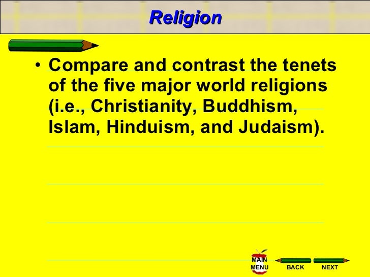 compare and contrast 2 religions Transcript of compare and contrast the three main religions of ancient china the three main religions of ancient china taoism comparing and contrasting buddhism wheel of life confucicanism buddhism is a religion that has a variety of traditions.