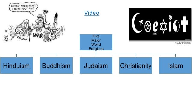 The Five Major Religions Of The World - Five major religions