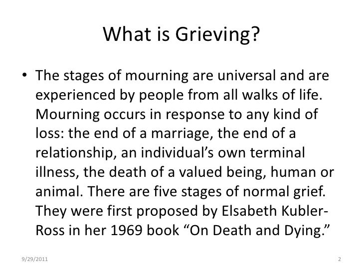Steps of mourning a relationship