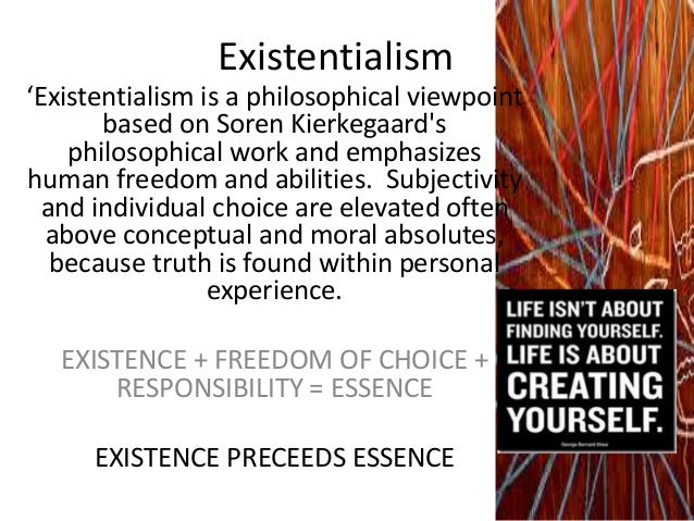 existentialism summary