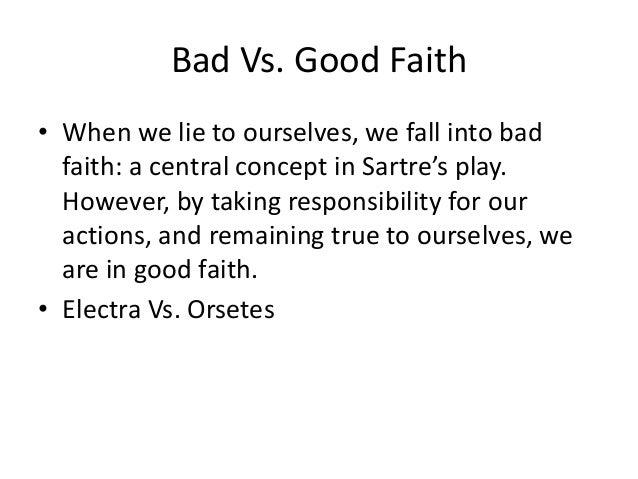 jean paul sartre bad faith