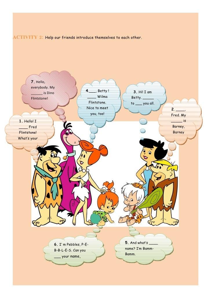 The Flintstones  Introducing Oneself In English Slide 3