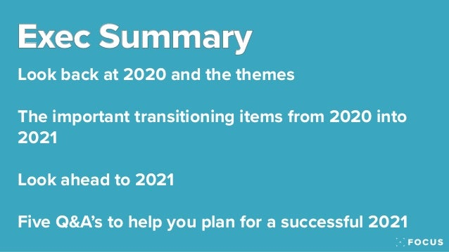 The Focus 2021 Predictions - The company culture and business performance predictions Slide 2