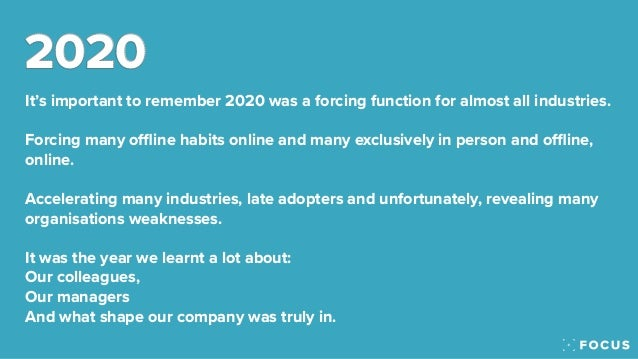 The Focus 2021 Predictions - The company culture and business performance predictions Slide 3