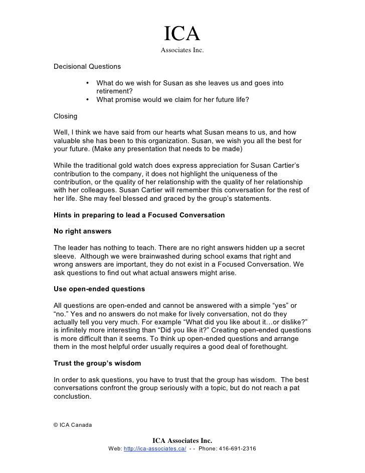 The Focused Conversation Method (ORID)