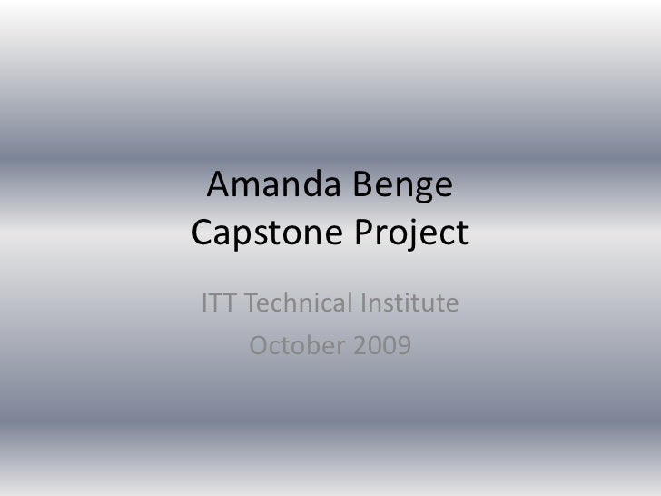 Capstone Technology Paper Writing Services