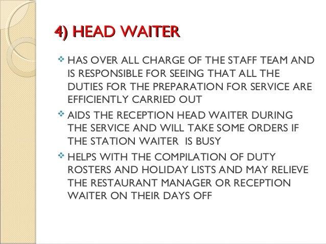 barista job description resume and get inspired to make your – Head Waitress Job Description