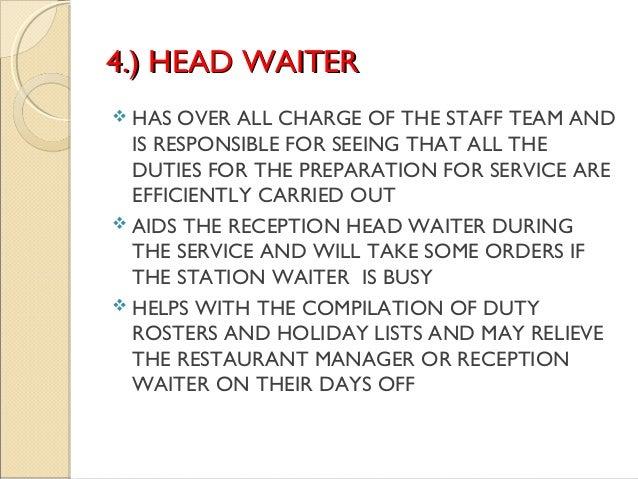 sample resume of waiter resume job description waitress niwe