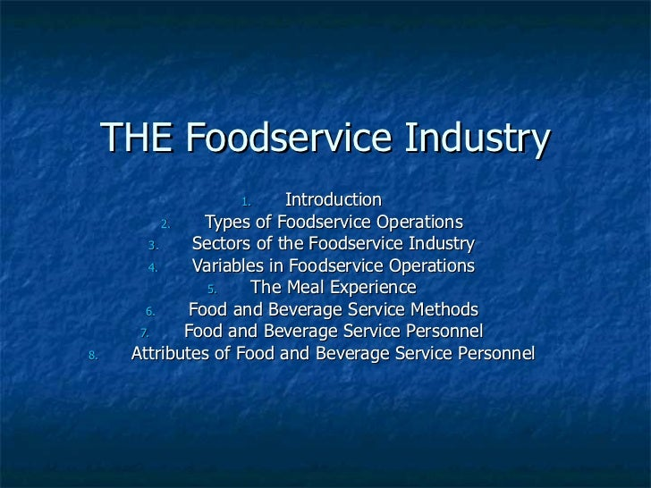 Food Service Industry In The Philippines