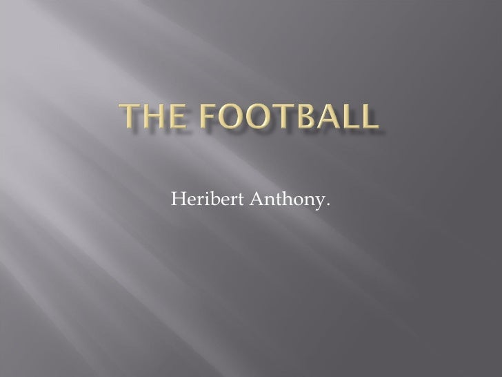Heribert Anthony.