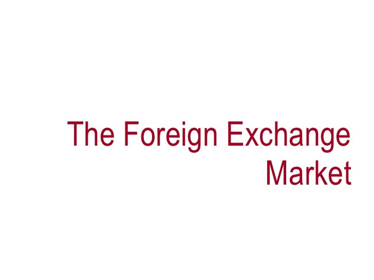 an overview of the foreign exchange market What is forex trading the foreign exchange market (forex, fx, or currency market) is a worldwide, decentralised, over-the-counter financial market for currency trading.