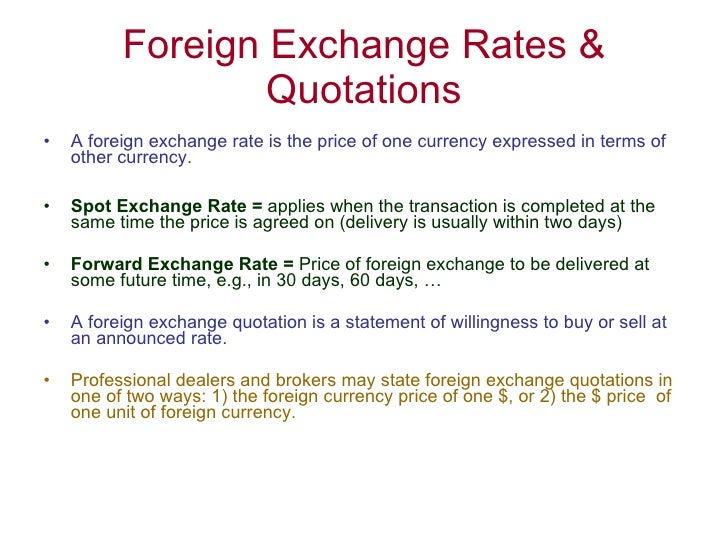 Forex quotation convention