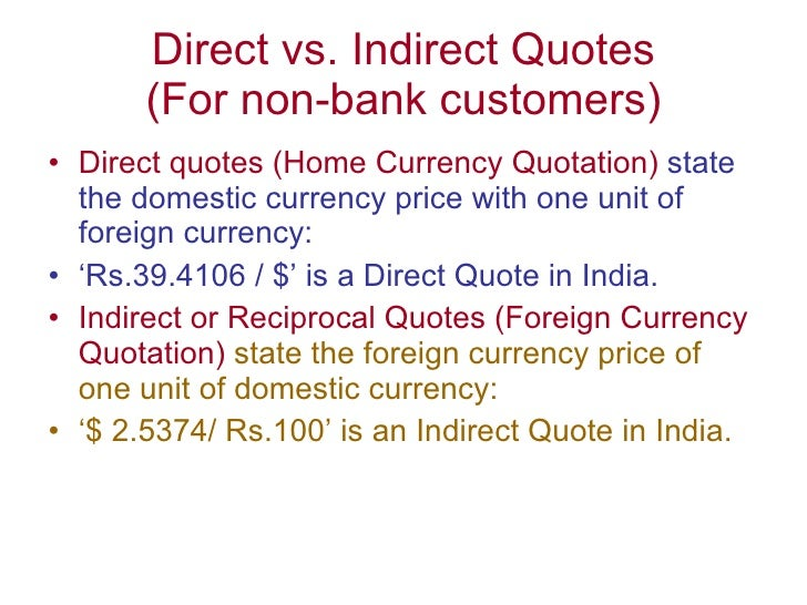 Forex direct quote