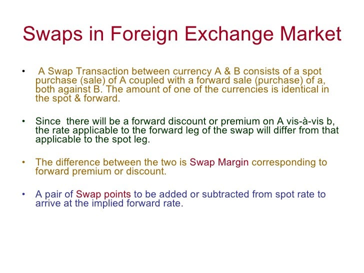 Swap transaction in forex market цены на нефть online