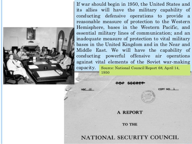 A Strategy of Containment: National Security Council Paper NSC 68