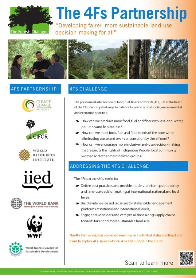 """The 4Fs Partnership                            """"Developing fairer, more sustainable land-use                            de..."""