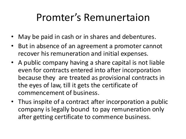 liabilities of the promoters for pre incorporation contract Chapter 3 pre- incorporation transaction by promoters  about 'chapter 3 pre- incorporation transaction by  liable on a pre-incorporation contract absent a.