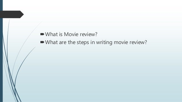 format for a movie review
