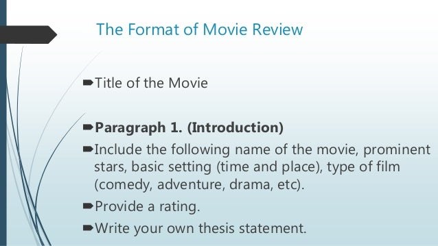 how to write a review of a presentation