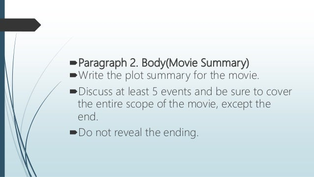 how to write a summary of a movie example