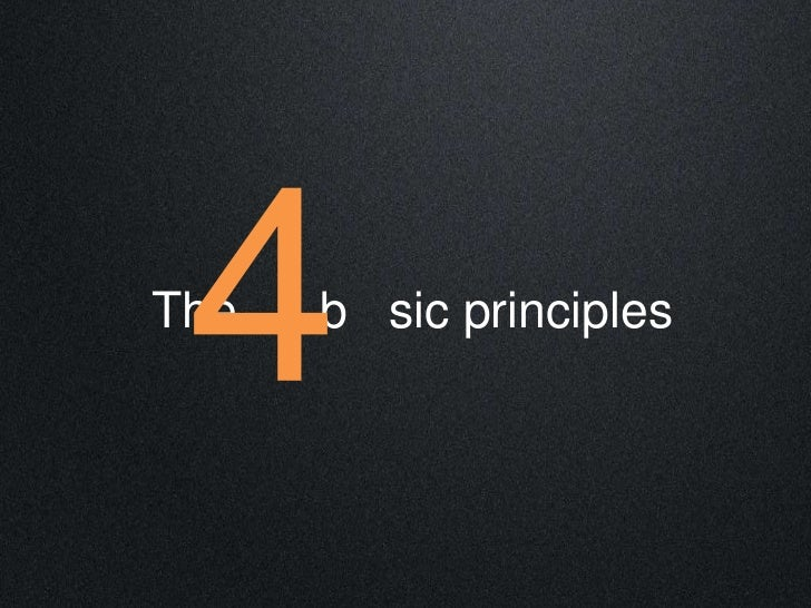 The   b sic principles