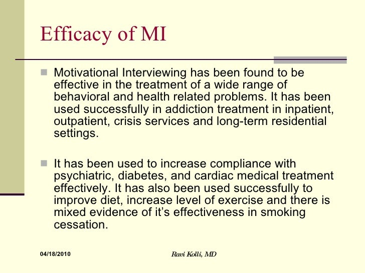 Does motivational Interviewing help people who smoke to quit?