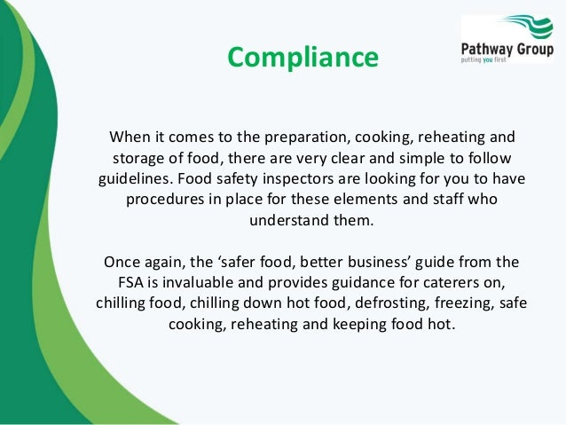 The Four Cs Of Food Hygiene And Safety