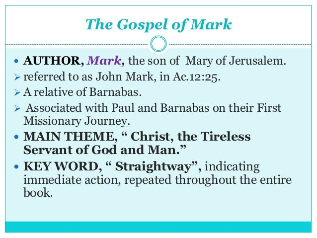 a summary of the gospel of mark Gospel of saint mark please help support the mission of new advent and get the full contents of this website as an instant download includes the catholic encyclopedia, church fathers, summa, bible and more — all for only $1999.
