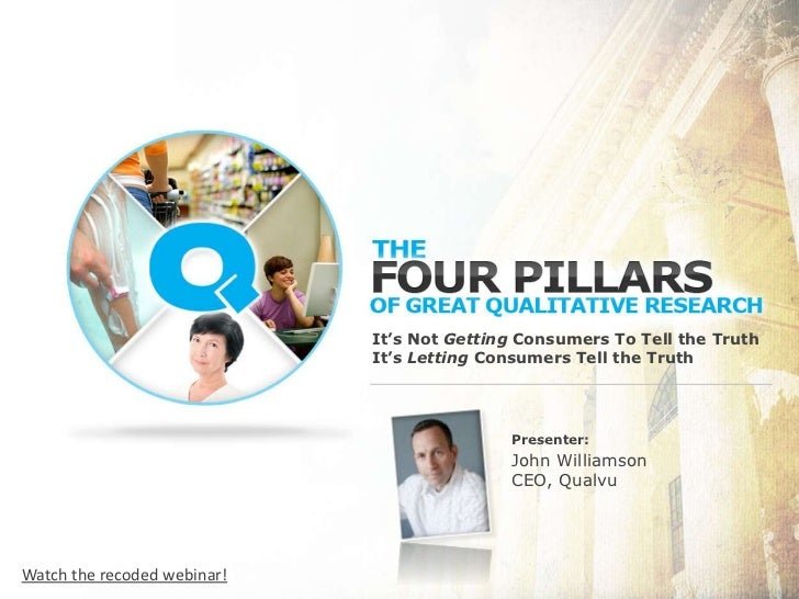It's Not Getting Consumers To Tell the TruthIt's Letting ConsumersTell the Truth<br />Presenter:<br />John Williamson<br ...