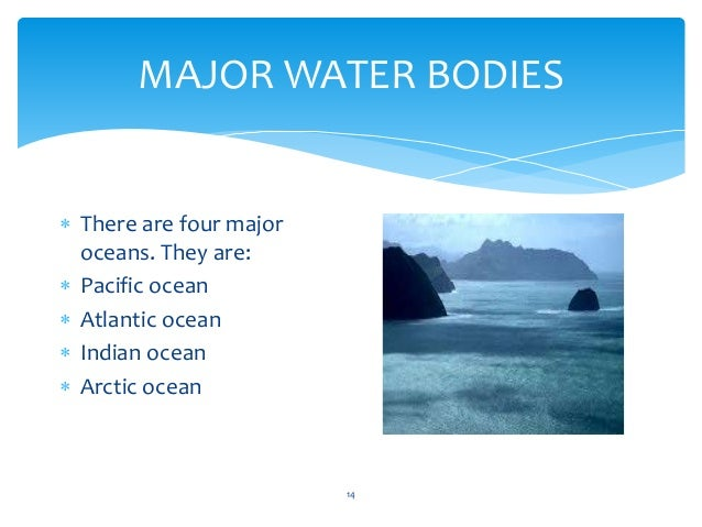 The Four Realms Of The Earth - The four major oceans