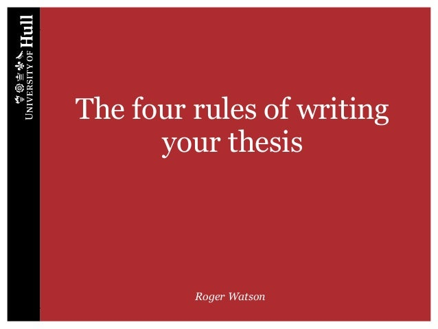 4 rules of a thesis statement 5 tips for writing an effective thesis statement an effective thesis statement fulfills the following criteria it should be: substantial - your thesis should be a claim for which it is easy to answer every reader's question: so what.