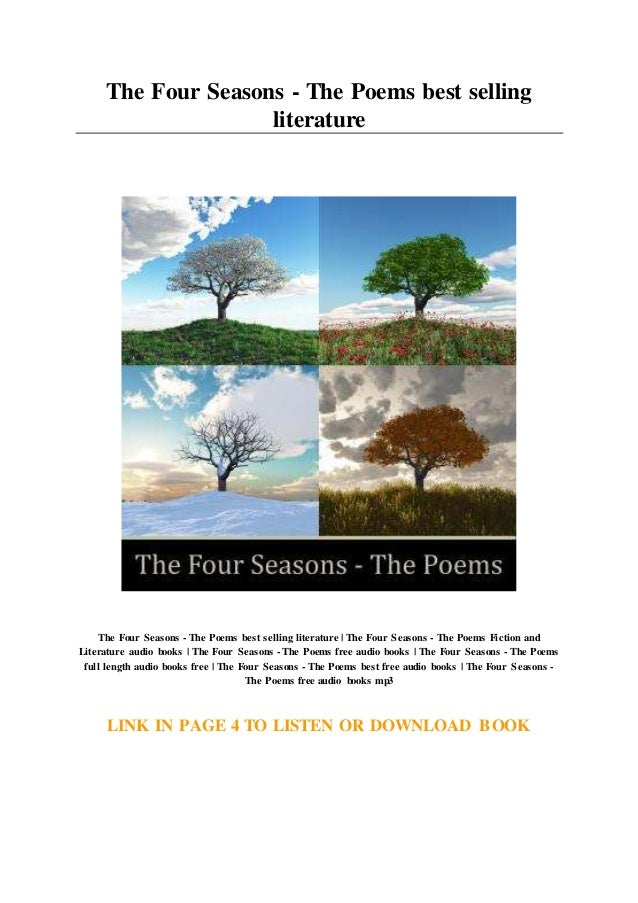 The Four Seasons The Poems Best Selling Literature