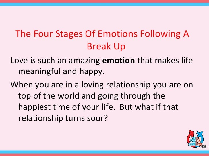 The Four Stages Of Emotions Following A Break Up 2
