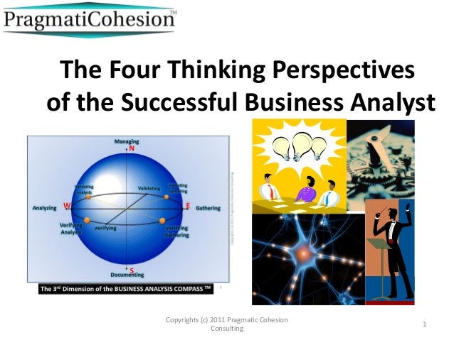 The Four Thinking Perspectivesof the Successful Business Analyst          Copyrights (c) 2011 Pragmatic Cohesion          ...