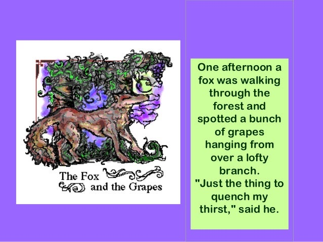 fox and grapes story