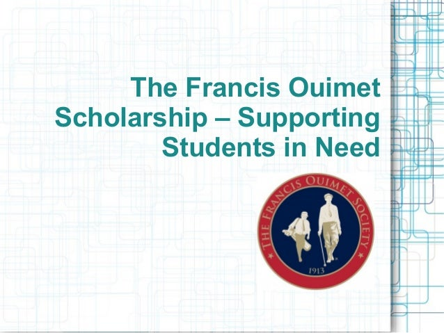 The Francis Ouimet Scholarship – Supporting Students in Need