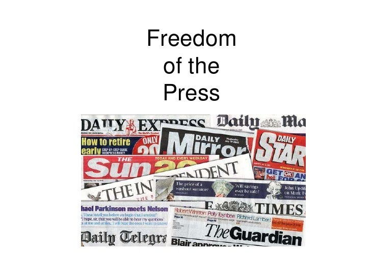 Freedom of the Press<br />