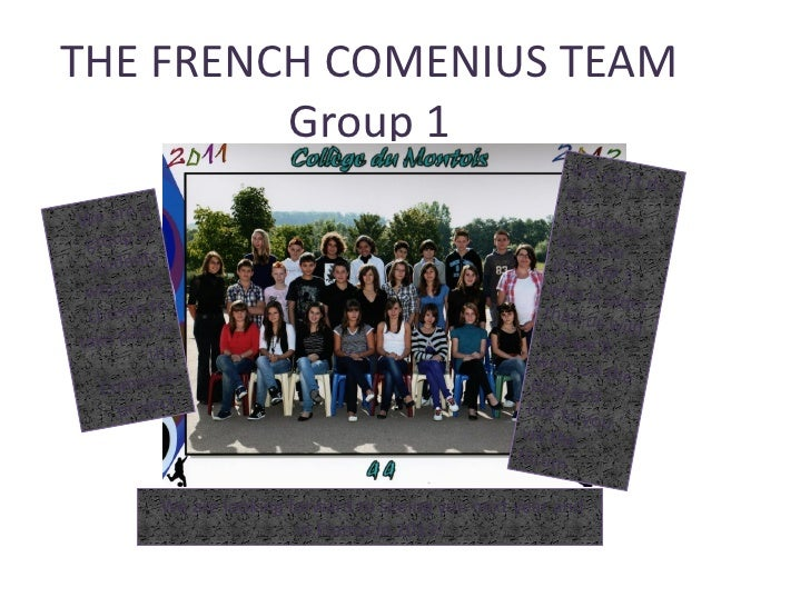 THE FRENCH COMENIUS TEAM         Group 1                                                              We can              ...