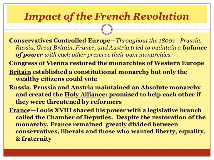 The effects of the leaders in the french revolution