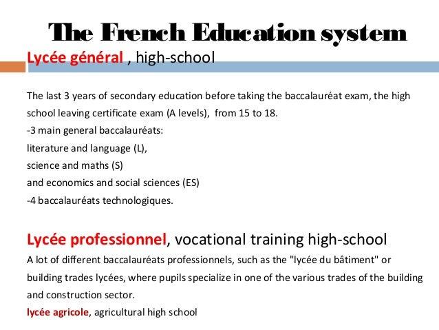 french school system