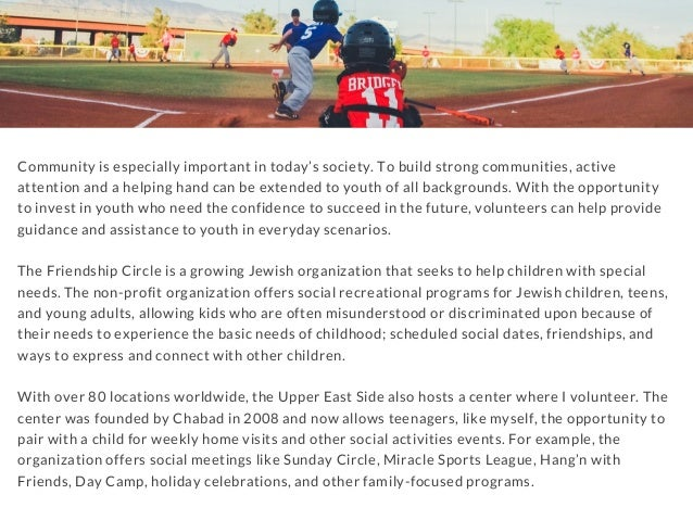 Community is especially important in today's society. To build strong communities, active attention and a helping hand can...